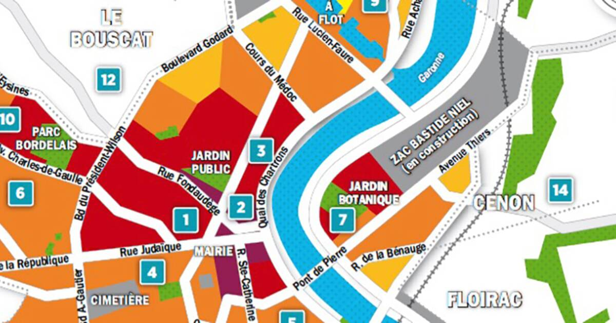 Carte Bordeaux Cub.Immobilier A Bordeaux La Carte Des Prix 2018 Capital Fr