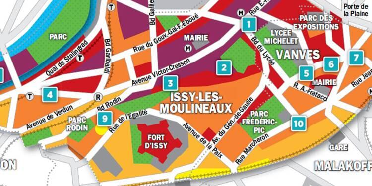 Immobilier à Issy-les-moulineaux, Vanves : la carte des prix 2018