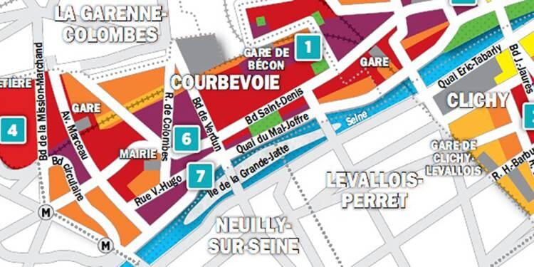 Immobilier à Clichy, Asnières, Courbevoie : la carte des prix 2018