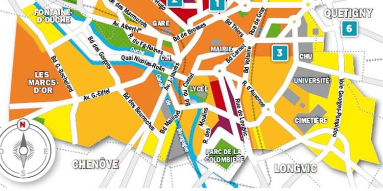Immobilier à Dijon :  la carte des prix 2018