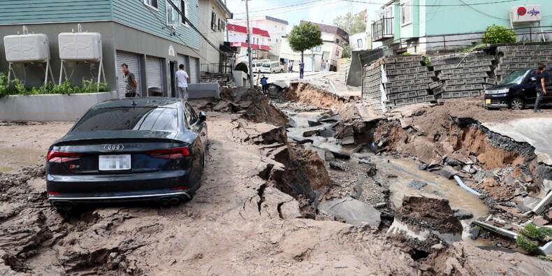 Séismes et typhons au Japon: images impressionnantes, mais dommages limités