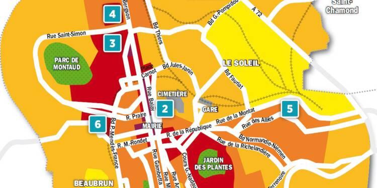 Immobilier à Saint-Etienne : la carte des prix 2018