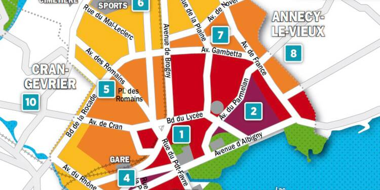 Immobilier à Annecy : la carte des prix 2018