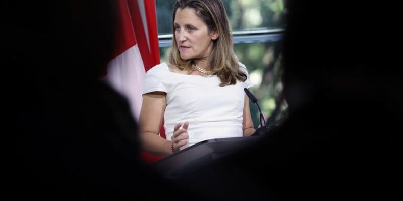 """Alena: La Canadienne Freeland parle de """"très bons progrès"""""""
