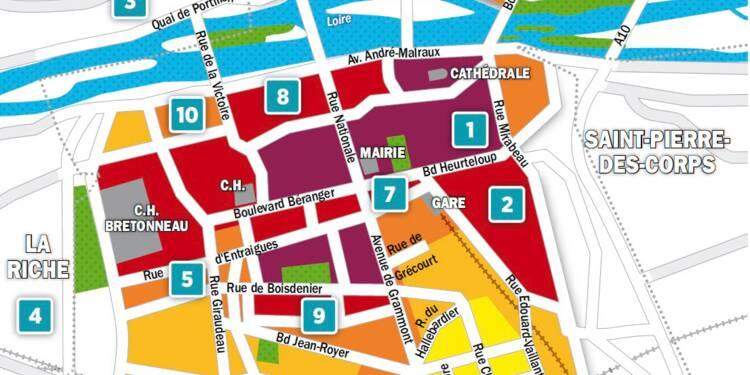 Immobilier à Tours : la carte des prix 2018