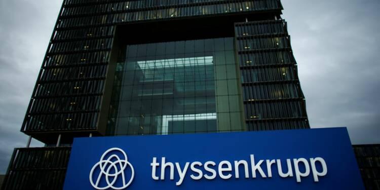 Thyssenkrupp réorganise son pôle industriel en difficulté