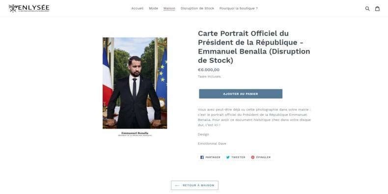 """""""Enlysée"""" : le site qui parodie les objets de l'Elysée pour la bonne cause fait carton plein"""