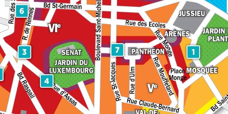 Immobilier à Paris : la carte des prix 2018 dans les 5e et 6e arrondissements
