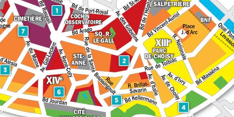 Immobilier à Paris : la carte des prix 2018 dans les 13e et 14e arrondissements