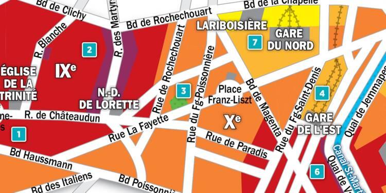 Immobilier à Paris : la carte des prix 2018 dans les 9e et 10e arrondissements