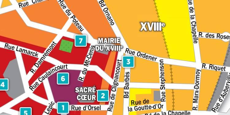 Immobilier à Paris : la carte des prix 2018 dans le 18e arrondissement