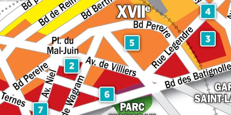 Immobilier à Paris : la carte des prix 2018 dans le 17e arrondissement