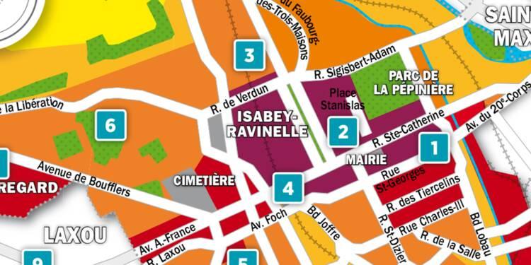 Immobilier à Nancy : la carte des prix 2018