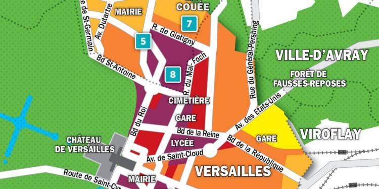 Immobilier à Versailles, Le Chesnay, La Celle-Saint-Cloud : la carte des prix 2018