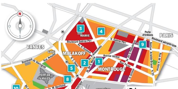 Immobilier à Malakoff, Montrouge, Châtillon : la carte des prix 2018