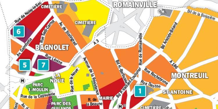 Immobilier à Montreuil et Bagnolet : la carte des prix 2018