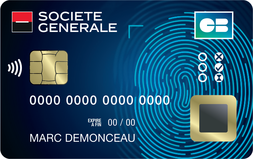 Carte Visa Black Societe Generale.La Carte Bancaire A Reconnaissance Digitale Debarque Chez La