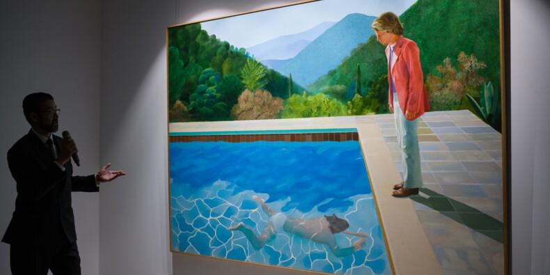 Une toile de David Hockney atteint un montant record aux enchères
