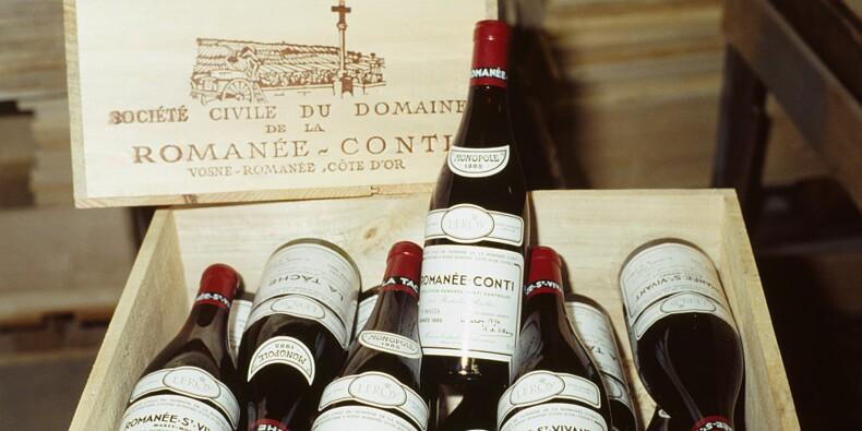 Les bouteilles de la Romanée-Conti atteignent des records aux enchères