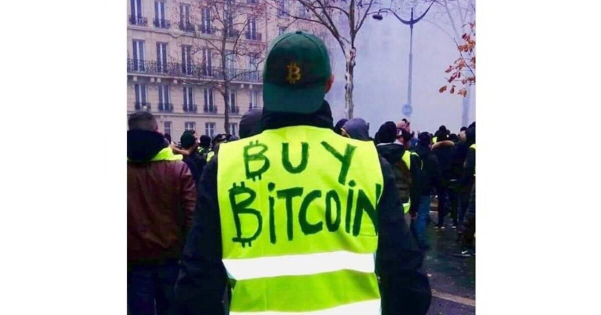 Mais que vient faire Bitcoin parmi les gilets jaunes ?