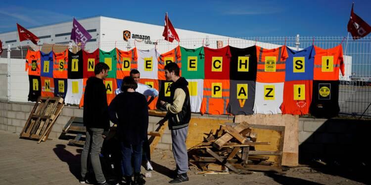 Les salariés d'Amazon en grève en Espagne avant une fête-clé