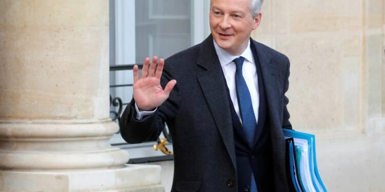 Le Maire: 2018, bon cru pour l'investissement étranger en France