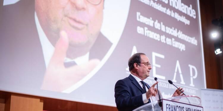 François Hollande dézingue Macron, Mélenchon et Bellamy