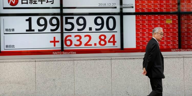 A Tokyo, l'indice Nikkei finit en hausse de 1,02%