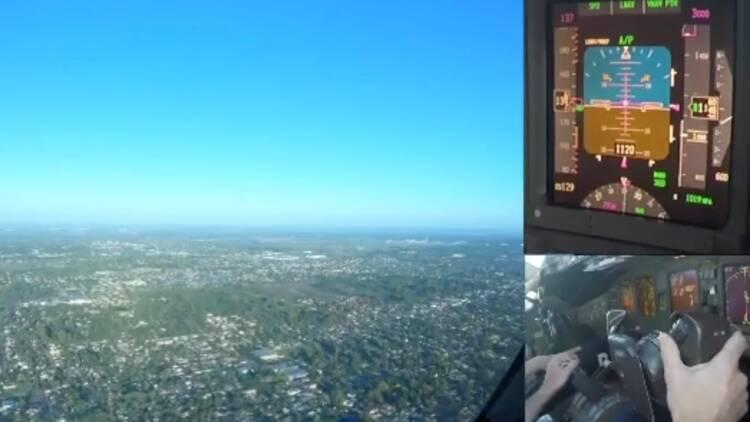 Embarquez dans le cockpit d'un Boeing 777, lors d'un atterrissage à Buenos Aires
