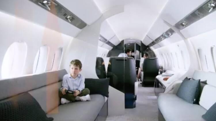 Dassault présente la cabine du Falcon 6X, son futur jet d'affaires