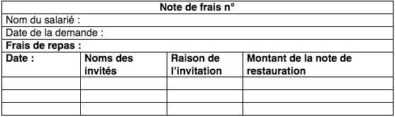 Note De Frais Restaurant