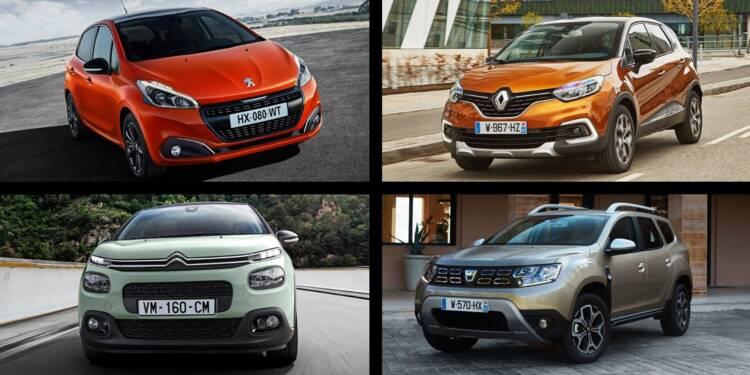 Les 10 voitures les plus vendues depuis le début de l'année