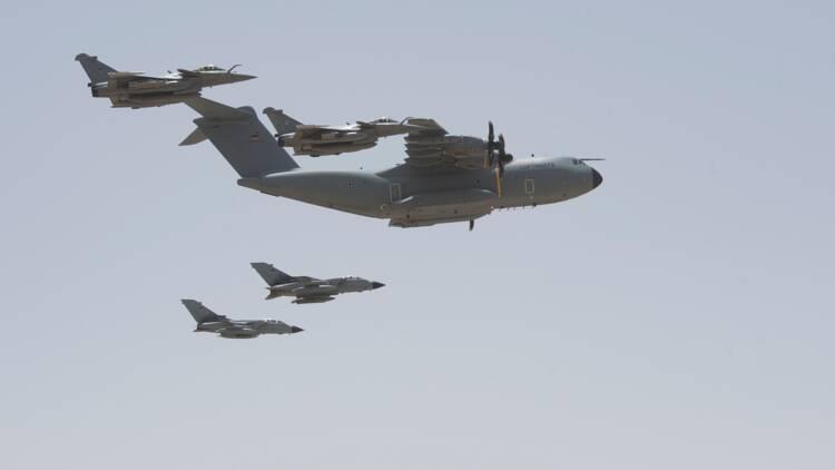Pour la première fois, des Rafale ont été ravitaillés en vol par un A400M allemand