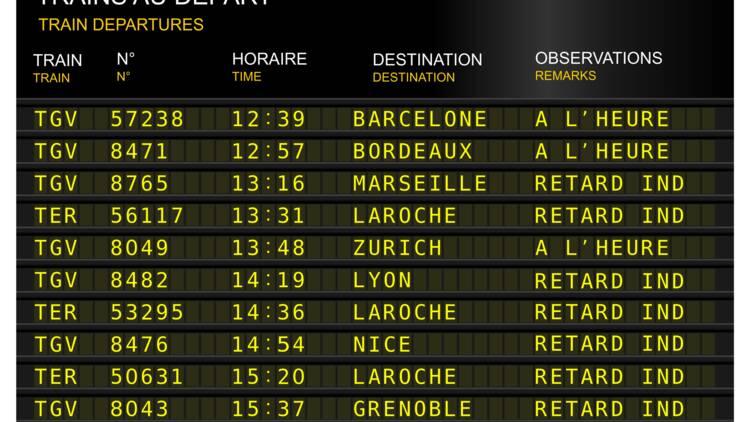 Un quart des TGV n'arrivent toujours pas l'heure