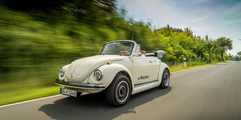 Volkswagen transforme son ancienne Coccinelle en voiture électrique