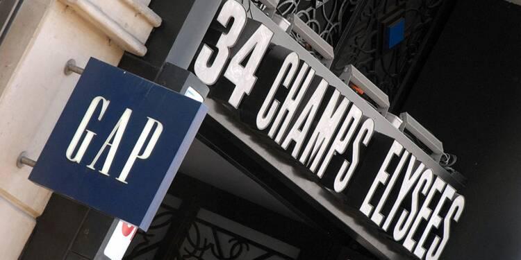 La liste des 8 magasins Gap qui vont fermer en France