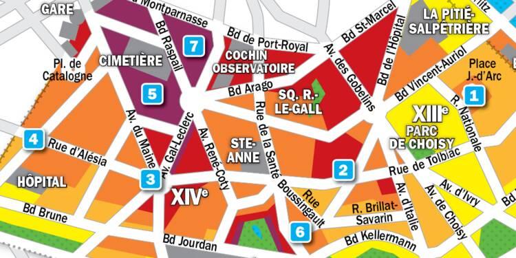 carte prix immobilier paris Immobilier à Paris : la carte des prix 2019 dans les 13e et 14e