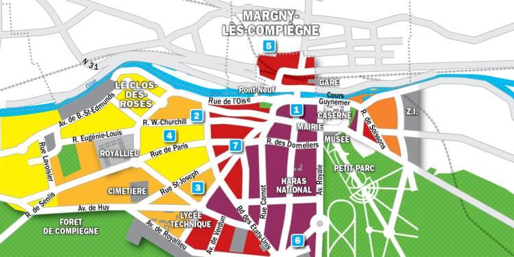 Immobilier à Compiègne : la carte des prix 2019