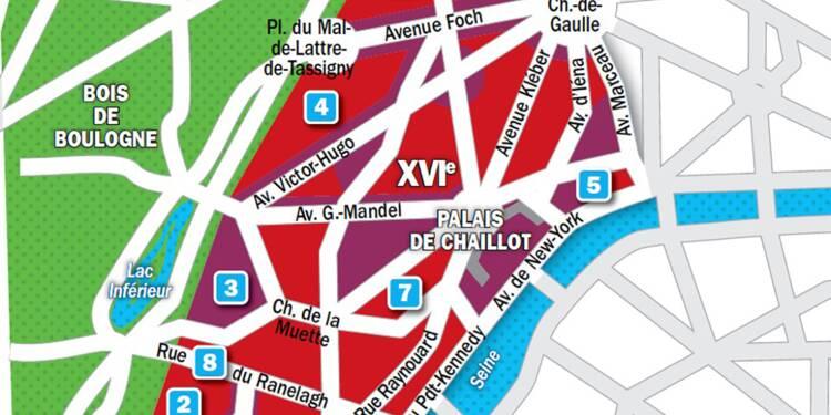 Immobilier à Paris : la carte des prix 2019 dans le 16e arrondissement