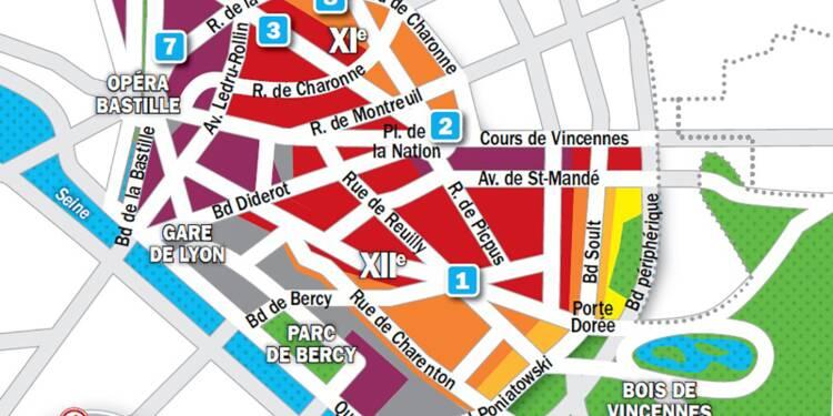 Immobilier à Paris : la carte des prix 2019 dans les 11e et 12e arrondissements