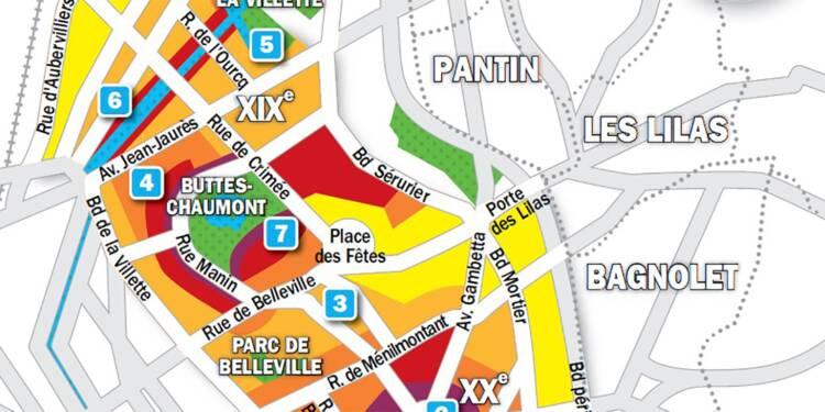 Immobilier à Paris : la carte des prix 2019 dans les 19e et 20e arrondissements