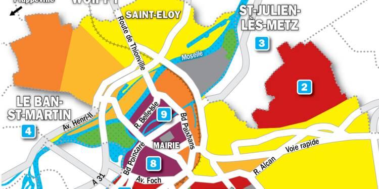 Immobilier à Metz : la carte des prix 2019