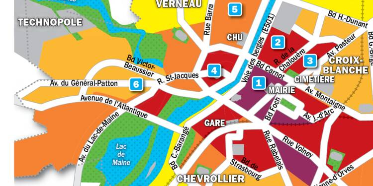 Immobilier à Angers : la carte des prix 2019