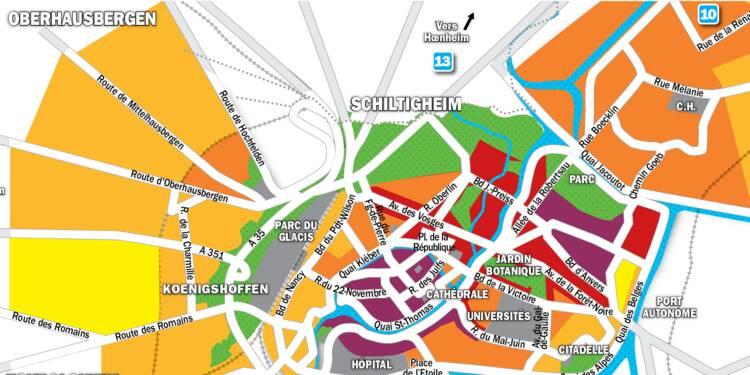 Immobilier à Strasbourg : la carte des prix 2019