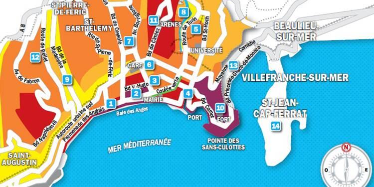 Immobilier à Nice : la carte des prix 2019