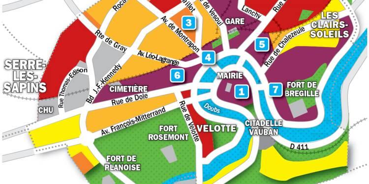 Immobilier à Besançon : la carte des prix 2019