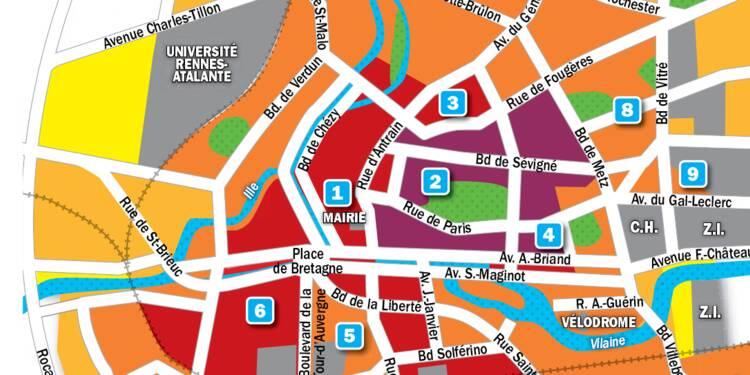 Immobilier à Rennes : la carte des prix 2019