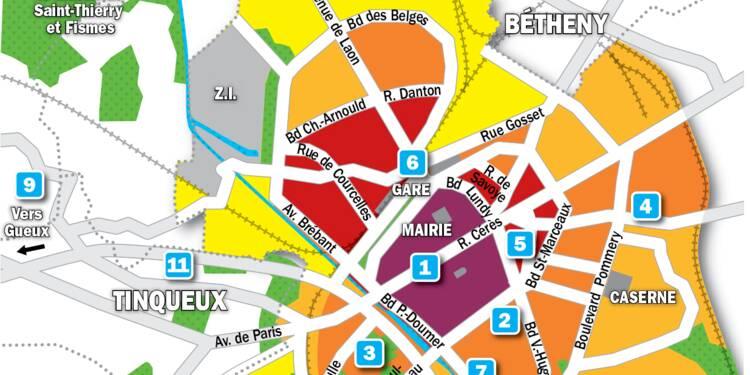 Immobilier à Reims : la carte des prix 2019