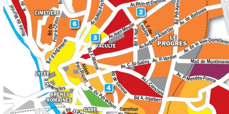 carte des quartiers de beziers Immobilier à Béziers : la carte des prix 2019   Capital.fr