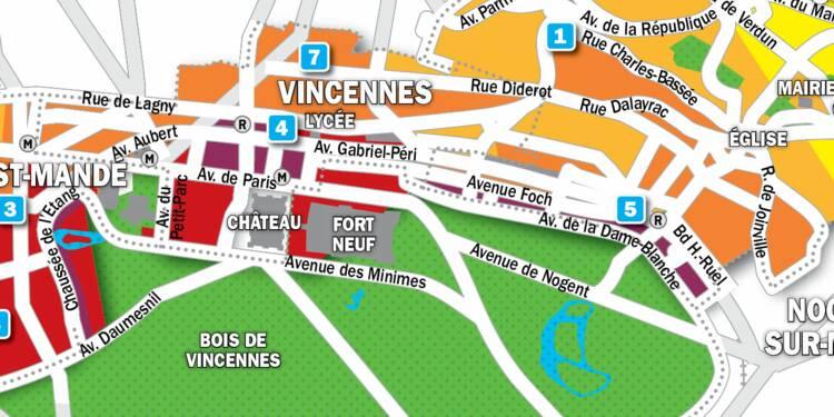 Immobilier à Saint-Mandé, Fontenay-sous-Bois et Vincennes : la carte des prix 2019